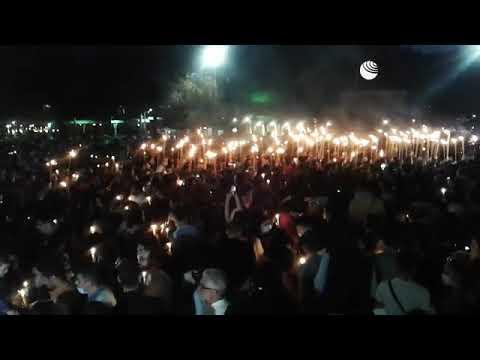 Факельное шествие в Ереване в День памяти геноцида армян