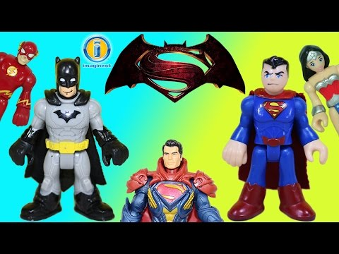 The BEST Imaginext Batman Superman & Justice League Super Hero Adventures: SUBSCRIBE for more toy surprises everyday! https://www.youtube.com/channel/UCow9XxDENBQ_to9IDihPgYA  We are so excited about the Batman v Superman movie that we wanted to show our favorite Batman and Superman adventures. We had four fun stories to tell with Imaginext DC Super Friends Batman, Superman, Lex Luthor, Wonder Woman, Flash, Green Lantern, Kilowog, Green Arrow and Robin. Our Imaginext DC Super Friends villains K. Croc, Bane, Penguin, Joker, Brainiac, Captain Cold and Lex Luthor were battling our Super Heroes. The Marvel Universe Heroes and villians joined with the DC universe to tell an exciting story.  Don't miss these other great toy surprises!  Batman v Superman Epic Battle Superman. Superman, Thor and Beta Ray Bill have a Strength Contest https://www.youtube.com/watch?v=1Mbqrci9Guc  Power Rangers Mixx N Morph Samurai Gold Ranger & Clawzord Helps Dino Charge Red Ranger https://www.youtube.com/watch?v=_8jstTG88A0  Surprise Eggs Easter Duck Party Blind Bag Superman vs Batman Care Bears https://www.youtube.com/watch?v=Jw_uTzXHTvs  Imaginext Battle Coach and Knight teams up with Green Arrow and Scooby-Doo to save Lucky Dragon https://www.youtube.com/watch?v=zFkMeHzTj2E  Easter present, Chubby Puppies & Friends Bunny is opened along with 12 Surprise Eggs https://www.youtube.com/watch?v=j-6GaUR6TVI  Marvel Super Hero Mashers Micro Hulk vs. Loki  & Ultron https://www.youtube.com/watch?v=tveLLdylWx4  Transformers Robots in Disguise Strongarm transforms from a Robot into a Police Car. https://www.youtube.com/watch?v=00ROTlLjNmI  Disney Princess Little Kingdom Ariel's Floating Dreams & Help from Jake and the Never Land Pirates https://www.youtube.com/watch?v=OcVfeYAzn8Q  Teenage Mutant Ninja Turtles, Michelangelo & Leonardo,  Mutate into T-Machines https://www.youtube.com/watch?v=2XgItpk7uts  Star Wars The Force Awakens Micromachines R2-D2 which opens up to become a Hoth battle scene https: