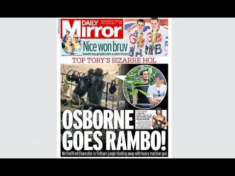 George Osborne in bizarre Vietnam Rambo episode