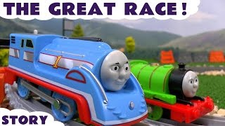 Thomas and Friends The Great Race with Disney Cars Toys McQueen Trackmaster Streamlined Thomas Train