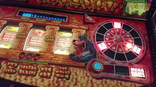 Red Gaming Piggy Bank Fruit Machine £5