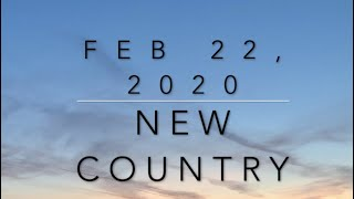 New Country Music (Feb.22, 2020)