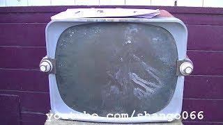 1956 Zenith 17X20 black-and-white television resurrection
