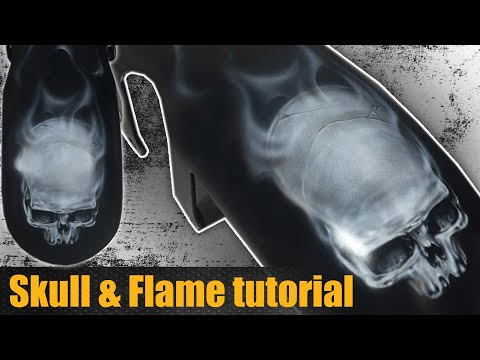 How to Airbrush a Skull with Flames
