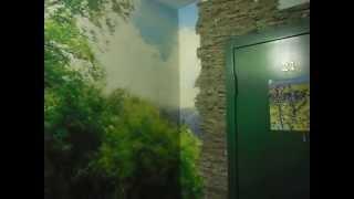 Облагораживание подъезда(Подъездная площадка в обычной многоэтажке. Наклеено фотопано. Двери в квартирах обложены декоративным..., 2015-11-07T07:21:12.000Z)