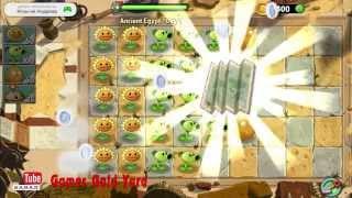 """Растения против зомби 2 Египет прохождение 1 уровень - приз """"Карта"""""""