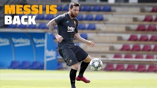 Leo Messi recovers in time for the Champions League