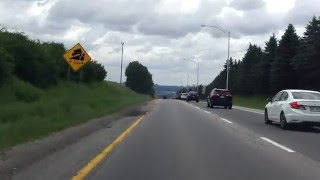 Laurentian Expressway (Autoroute 73 Exits 154 to 148) southbound