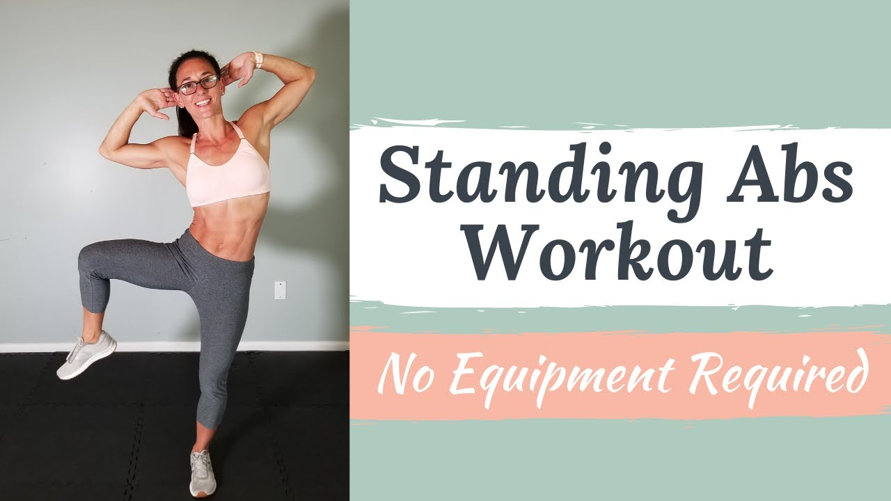 Standing Abs workout - No Equipment home workout