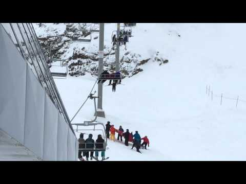 Kid falls out of whistler ski lift.  Quick thinking!!!