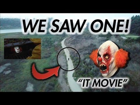 "HUNTING KILLER CLOWNS ""IT"" WITH A DRONE! (WE SAW ONE!!)"