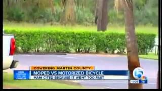Motorized bikes vs. mopeds for citations