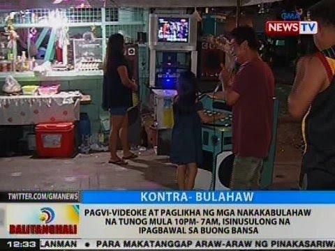 BT: Pagvi-videoke at paglikha ng mga nakakabulahaw na tunog mula 10pm-7am, isinusulong na ipagbawal