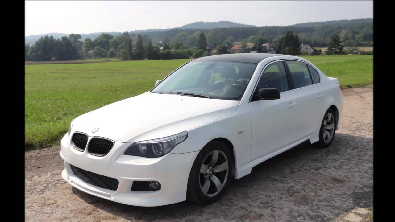 bmw e60 535d pearl white youtube. Black Bedroom Furniture Sets. Home Design Ideas
