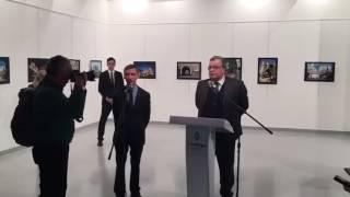 Новое и полное видео убийства посла России в Турции!! Шок видео!!! Смотреть до конца!!! часть 1