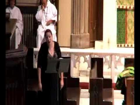Susan Hecht Singing at St. James Anglican Church