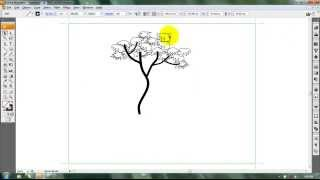 Adobe Illustrator Tutorial | How to draw a simple tree