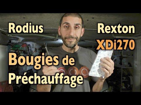 Rodius 🚙  Rexton Xdi270🕯 Bougies de Préchauffage