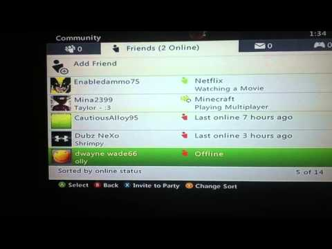 Day 12: Xbox 360 Errors! Deleted Friends List! from YouTube · Duration:  52 seconds
