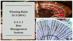 3-3-1-1 Bets Management System Roulette Casino Games Online