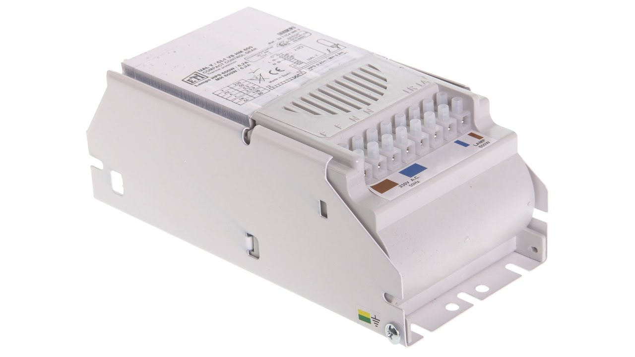 Standard Ballast ETI 600W for NDL/ HPS Lamps - YouTube