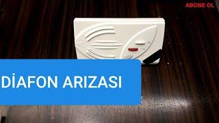 Diafon ARIZASI, Konuşma sistemi arızası,zil, hoporlör, kapı açma