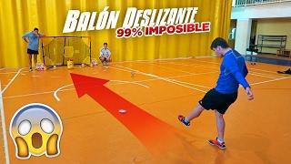 BALÓN DESLIZANTE PUNTERIA 99% IMPOSIBLE!!! ¡RETO FÚTBOL!