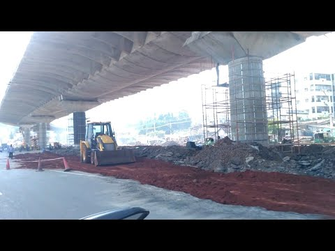 [Bike View] Vijayawada Kanaka Durga Flyover Latest Works Update (28 Oct 2018 )