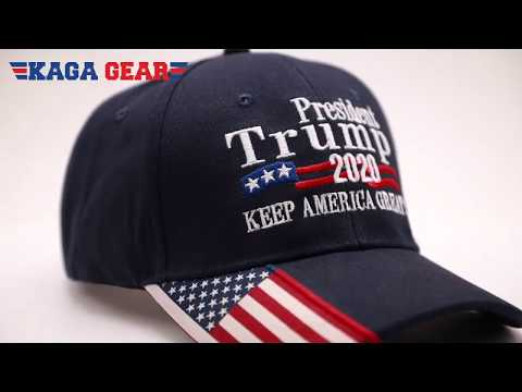 President Trump 2020 USA Flag Hat