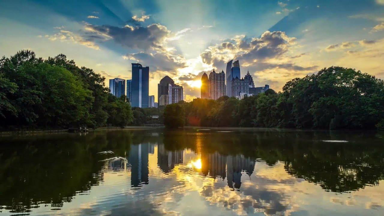 Fall Sunrise Wallpaper Atlanta Piedmont Park 2015 Aug 4k Uhd Youtube