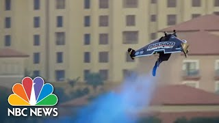 Rocket Pack Shoots Man Up Nearly A Mile High In First Vertical Takeoff | NBC Nightly News