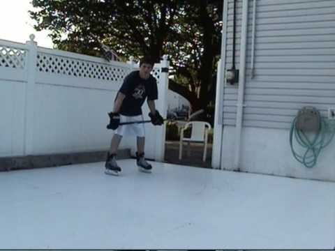 PolyGlide Synthetic Ice   Backyard Rink Demo   YouTube