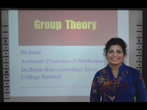 Group Theory Part 1 of 3 in Hindi under E-Learning Program