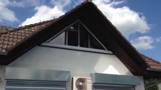 Venkovní rolety pro okna atypického tvaru