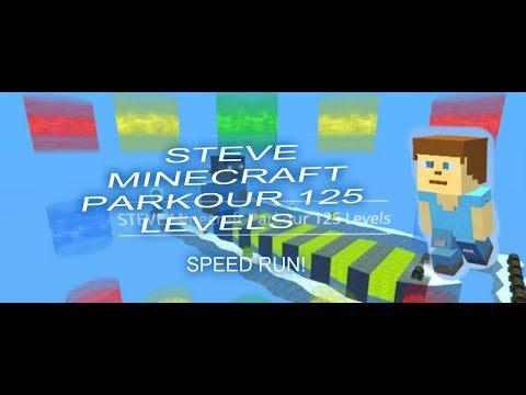 KoGaMa - Speed Run - STEVE Minecraft Parkour 125 Levels