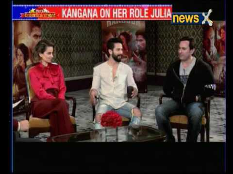 'Rangoon' star-cast Kangana Ranaut, Shahid Kapoor and Saif Ali Khan in conversation with NewsX