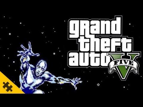 GTA 5 моды. Попытался поставить Серебряного Серфера....