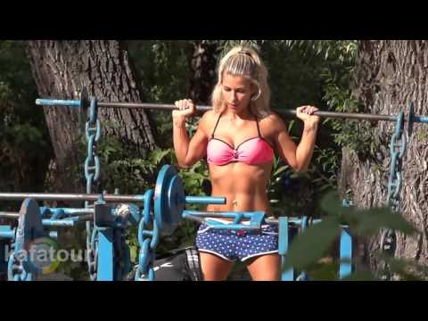 Street Workout in Ukraine   Female Fitness Motivation