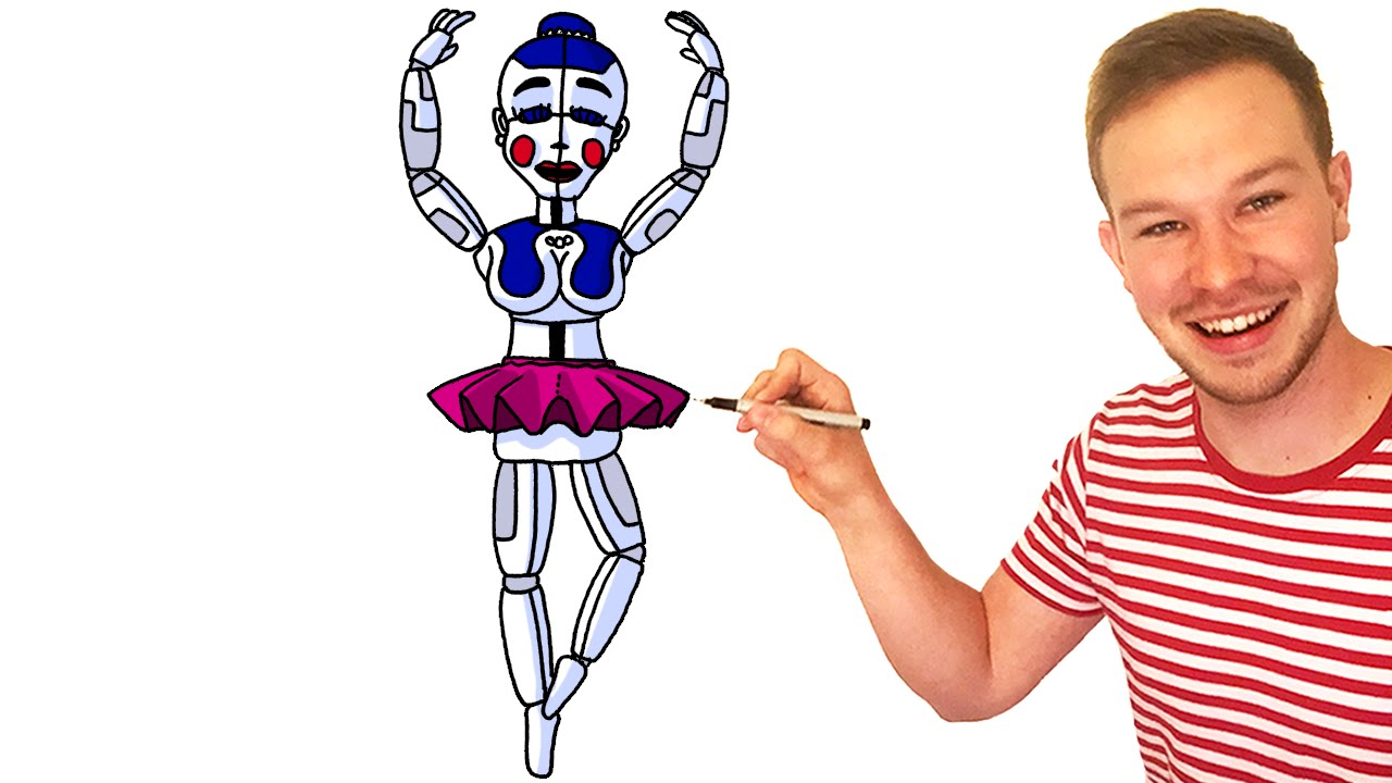How to Draw Ballora from FNaF Sister Location - YouTube