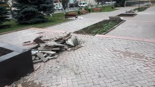 Ремонт на Алеї Слави, р. Клин.