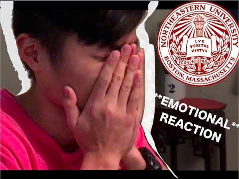 Northeastern University Early Decision Reaction Video!! TOP CHOICE SCHOOL! *Emotional*
