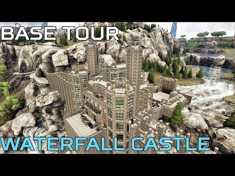 🦄 Ragnarok WATERFALL CASTLE BASE TOUR   Ark Survival [NO