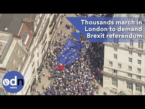 Thousands march in London to demand Brexit referendum