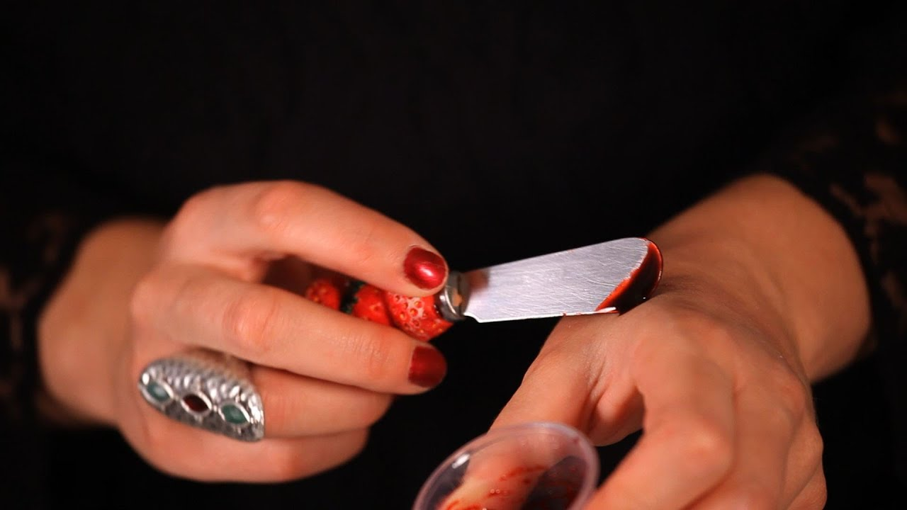 how to make fake blood for makeup