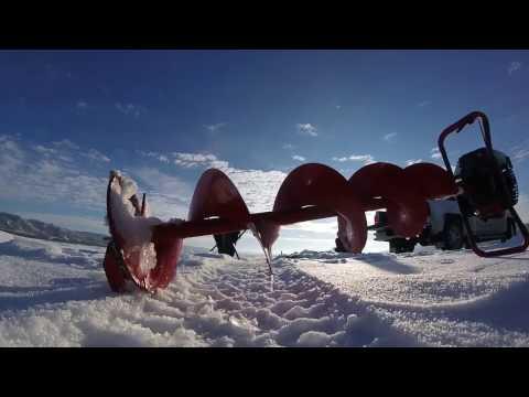 Perch and walleye Ice-fishing Katepwa Saskatchewan