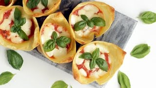 Easy Light Lasagna Cupcakes