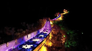 GLOBALink | Great Wall light show marks CPC's 100th anniversary in Beijing