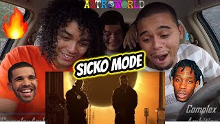 Travis Scott - SICKO MODE ft. Drake (MUSIC VIDEO) REACTION REVIEW