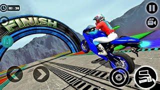 Impossible Motor Bike Tracks - Bike Game 2019 - Android gameplay