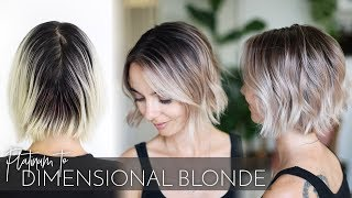 All Over Platinum to Dimensional Blonde Balayage in one Appointment | Easy Technique!